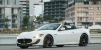 2017 White Maserati Grancabrio MC Stradale