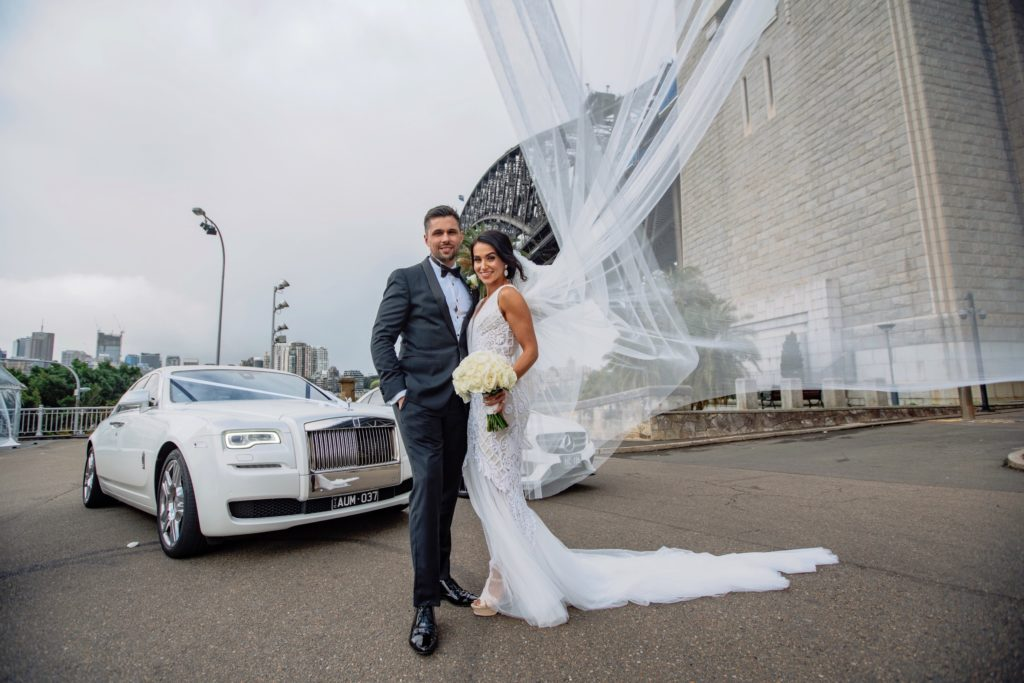 Rolls Royce Wedding Car Sydney Bride and Groom