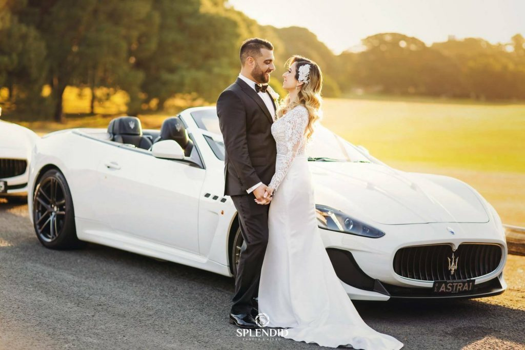 Maserati Wedding Car Sydney Bride and Groom
